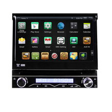 "7"" Quad Core Android 4.4.4 1 Din Car DVD GPS One Din Car Radio Single Din Car Multimedia System with External DAB Tuner Support"