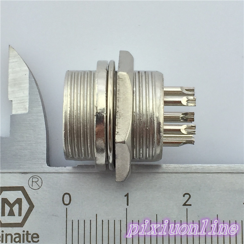 1pcs GX16 8 Pin Male Diameter 16mm Wire Panel Aviation Connector L108Y Circular Socket  High Quality On Sale