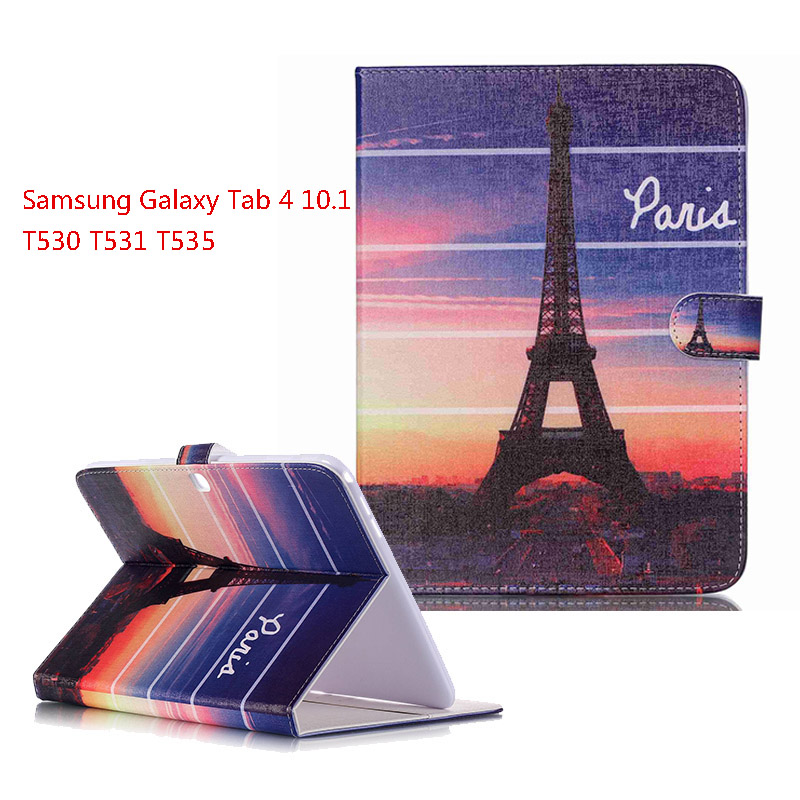 Funda for Samsung Galaxy Tab 4 10.1 inch T530 T531 T535 New Leather Case cover for Samsung T530 Protective tablet Cases<br><br>Aliexpress