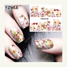 YZWLE 1 Sheet DIY Decals Nails Art Water Transfer Printing Stickers Accessories For Manicure Salon  YZW-8145