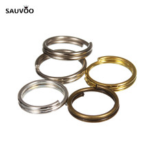 SAUVOO 200pcs Antique Bronze Silver Gold Rhodium Color Jump Split Ring Double Loops Dia 4/6/8/10mm for DIY Jewelry Connector(China)