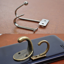 Metal Hooks 4 Style For Cloth Cap Dress DIY Craft Accessories Wood Making Holer Parts Silver/Bronze(China)