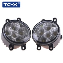 TC-X 2pcs 18W 6000K White Foglights Daytime Running Light LED Fog Light For Lexus IS GS LX HS RX Toyota RAV4 Camry Solara Avalon(China)