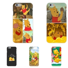 cartoon anime winnie the pooh Soft TPU Silicon Stylish Case For Apple iPhone 4 4S 5 5C SE 6 6S 7 7S Plus 4.7 5.5