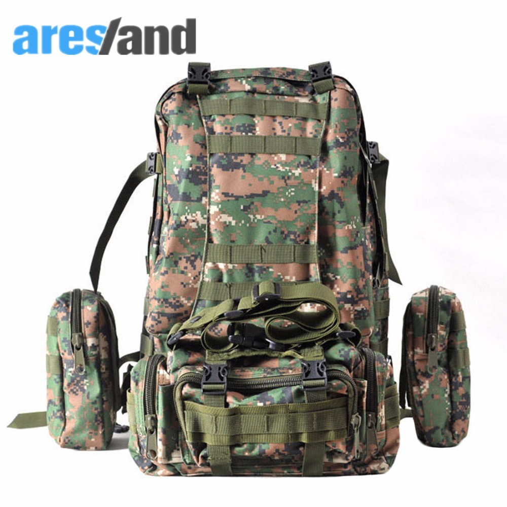 Aresland Waterpoorf Large Molle Assault Backpack Military Rucksack Mountaineering Bag<br><br>Aliexpress