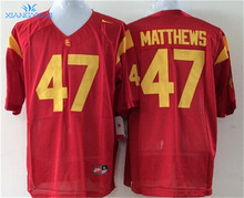 Nike USC Trojans MATTHEWS #47 BARKLEY #7 WOODS # 2 LOTT #42 Ice Hockey Jerseys(China)