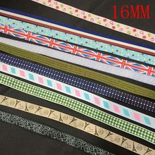 16MM 20Yards (Mix 4-8 Colors For 1 Style) Fabric Ribands Polyester Ribbons Jewerly Finding Cords