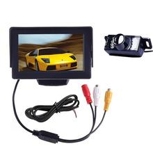 4.3 inch TFT Color LCD Screen Car Reverse Rearview Monitor Car Parking car-styling with Waterproof Backup Rear Review Camera(China)