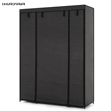 iKayaa FR Stock Cloth Wardrobe Storage Closet Wardrobe Hanger Bedroom Furniture Roll Up Cabinet Cloth Hanger Rack FR Stock