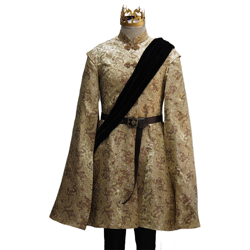 2017 High Quality Game of Thrones  Costume Joffrey Baratheon Cosplay Costume Adult Men Full Sets Halloween Costume