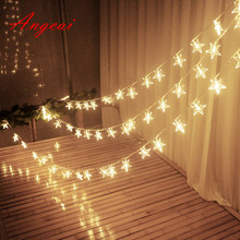 33FT 10M 100 fairy Lights String LED Christmas Tree Star Waterproof Romantic Lights ,wedding home garden patio decor 110v 220v(China)