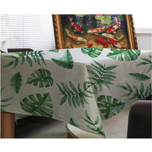 New Arrival Table Cloth Plant Print High Quality Universal Tablecloth Decorative Linen Table Cover