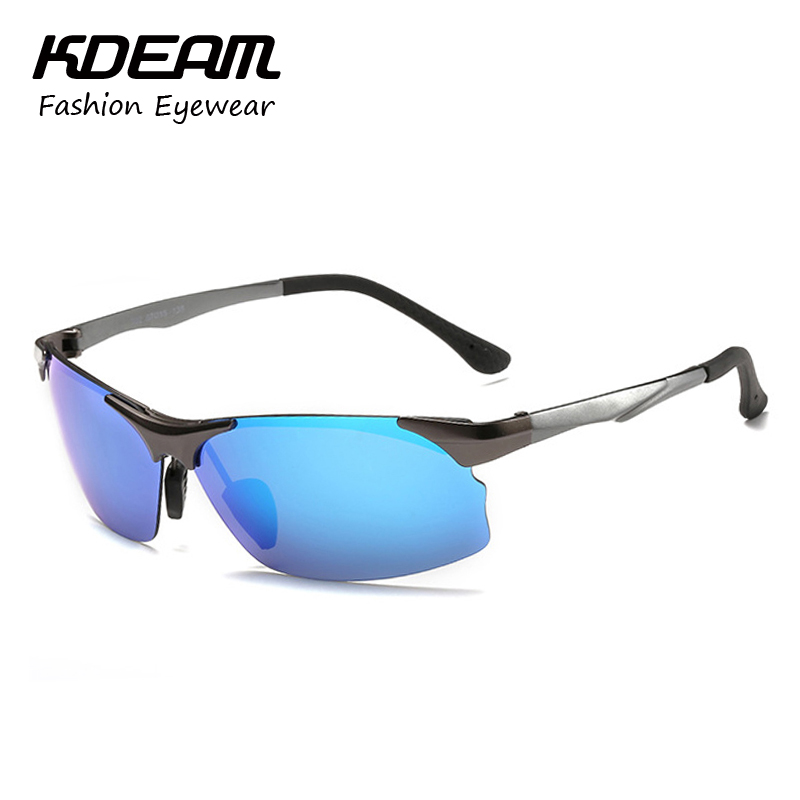 KDEAM 2017 Eyewear For Sport Al-mg Polarized Sunglasses Men Driving Anti-Glare Aluminum Glasses Revo Oculos Masculino KD201J<br><br>Aliexpress