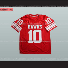 LANSHITINA Brett Favre 10 Hancock Hawks High School Football Jersey Red(China)