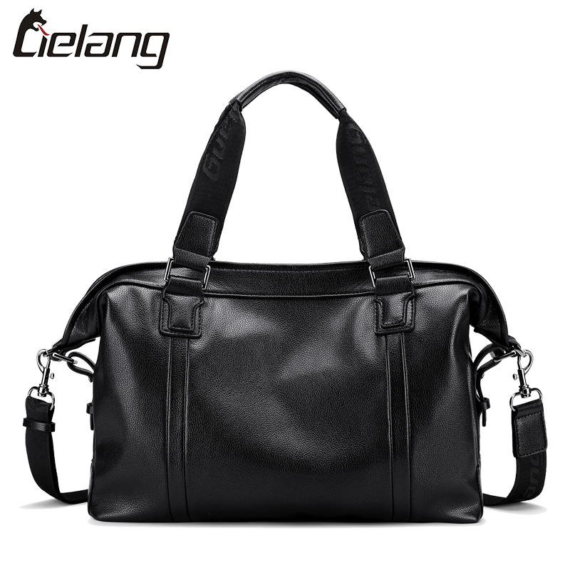 LIELANG Men Handbag Big Capacity  PU Leather Shoulder Bags for Men Casual Tote Fashion Business Briefcase Bags Travel Handbags<br>