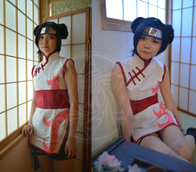 Free Shipping Naruto The movie The last-Tenten Cheongsam Anime Cosplay Costume/Cosplay wig