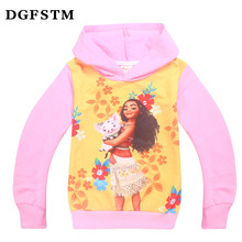 Spring Children's Coat Boys Cartoon Moana Printing Hoodie Jackets Kids Vaiana Cheap Korean Style Clothes T shirts Outerwear