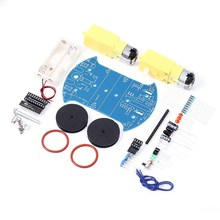 D2-2 DIY Kit Intelligent Tracking Line Smart Car Suite Kit AT89C2051 51 MCU Electronic Production Smart Patrol Automobile Parts