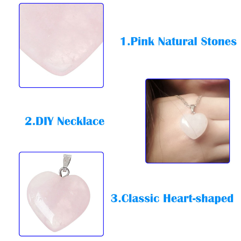 Doreenbeads Hot Fashion Women (Grade B) Created Rose Gem Stone Charm Pendants Heart Pink Jewelry Gift2