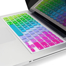 Silicone Flower Decal Rainbow Keyboard Cover Keypad Skin Protector For Apple Mac Macbook  13 15 17  US layout
