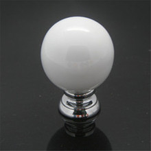 White Vintage Ball Ceramic Door Knobs Furniture Handle Cabinet Knobs Handles for Furniture Drawer Cupboard Kitchen Pull Handle