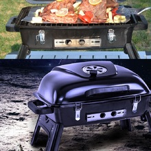 Charcoal barbecue stove enamel thickening carbon oven folding portable outdoor grill