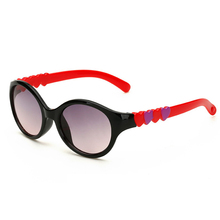 Kid's Sunglasses Fashion Lovely colorful frame with heart legs Baby Plastic Frame Coating Lens Baby Girl's Goggle eyewear
