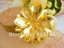 Freeshipping Fashon 47mm  golden leaf tap palace flower DIY Jewelry findings   Hair accessories charm pendant