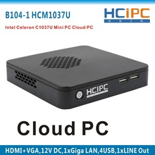 HCiPC B104-1 HCM1037U,Celeron C1037 Mini Barebone,mini computer,Mini Celeron C1037 Cloud PC,mini C1037 motherboard(China)