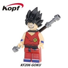Building Blocks Super Heroes Cartoon Comics Dragon Ball Z Son Goku Vegeta Master Roshi Bricks Collection Toys for children KF206