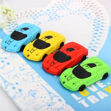 1pcs Cute Car styling Designer Students Pen Shape Eraser Rubber Stationery Kid  Creative Gifts Toy School Supplies