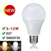 NEW LED Lamp E27 110V 220V SMD5730 LED Bulb 3W 5W 7W 9W 12W High Quality Real Watt Bombillas Warm White/Cold White