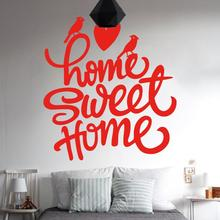 Art design cheap vinyl sweet home decoration creative character wall sticker waterproof removable PVC decor decals for bedroom(China)