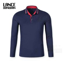 New 2017 Autumn Men Polo Shirt Mens Long Sleeve Solid Polo Shirts 94% Cotton Good Quality Plus Size XS-3XL(China)
