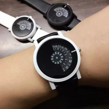 2017 creative design wristwatch camera concept brief simple special digital discs hands fashion quartz watches for men women