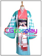 Free Shipping Cosplay Costume Blue Exorcist Moriyama Shiemi New in Stock Retail / Wholesale Halloween