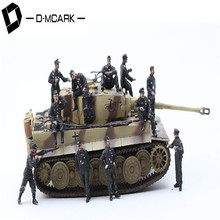 D-Mcark WW2 Germany Army Tank Soldier Men Action Figures Soldiers Field Military Police Model Kit Built and Painted by Pro Skill