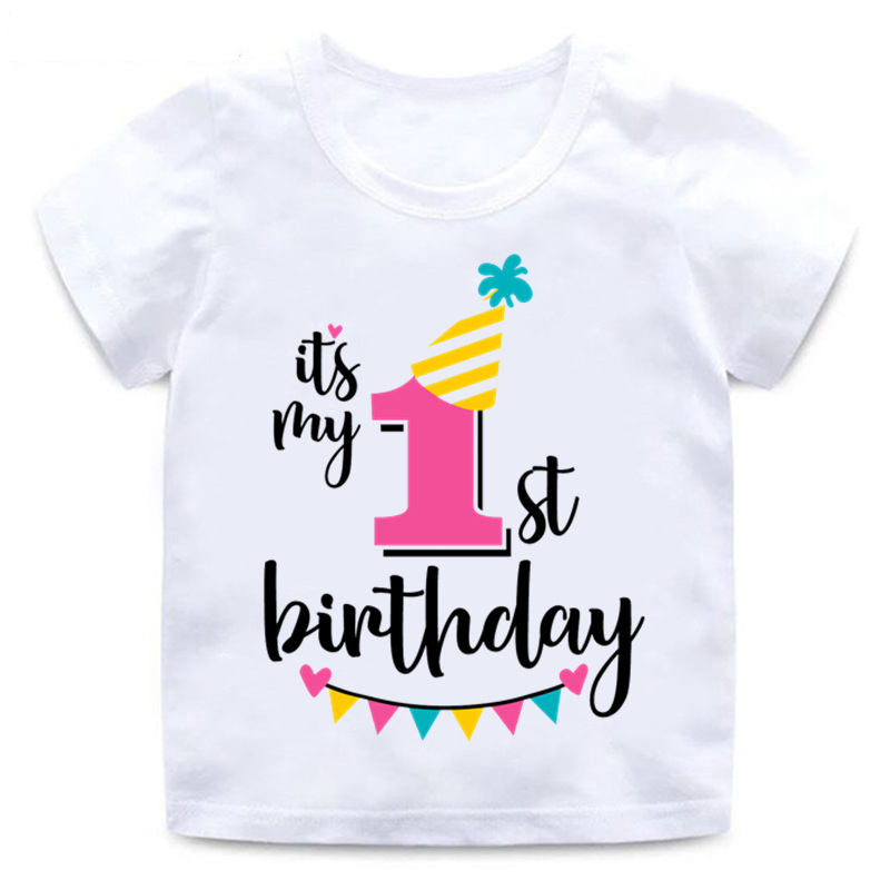 Girls-Happy-Birthday-Number-1-9-Letter-Print-T-shirt-Baby-Summer-Cute-Clothes-Kids-Funny
