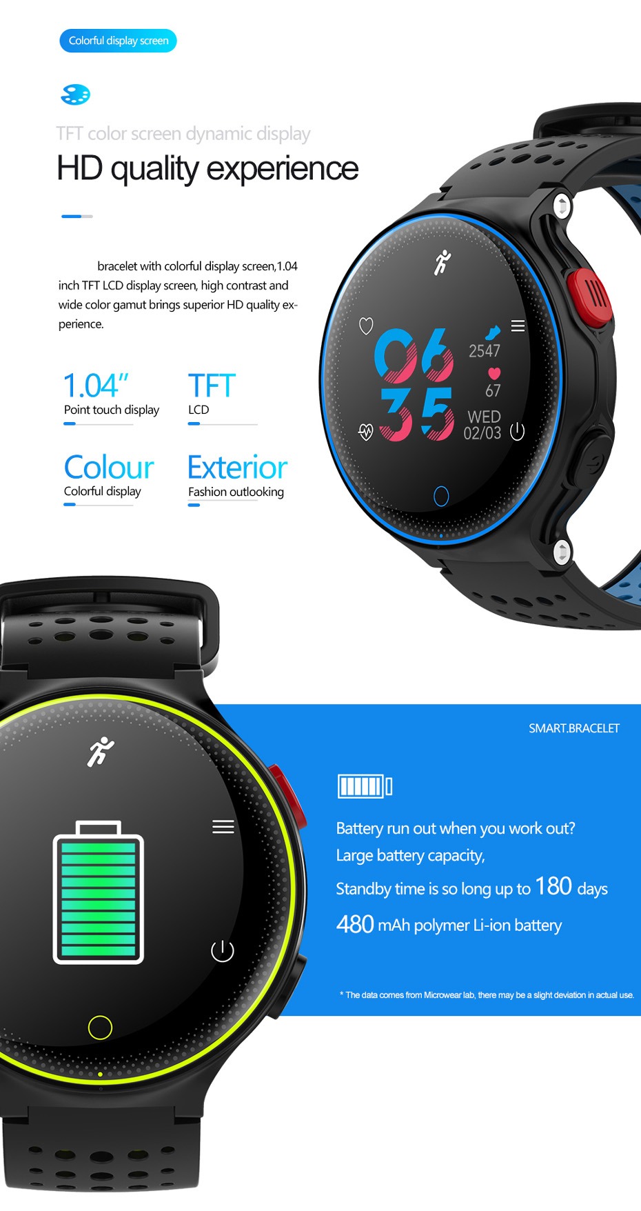 ColMi Smartwatch Heart Rate Tracker IP68 Waterproof Ultra-long Standby For IOS Android Phone Smart Watch 04