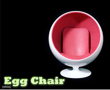 "1/6 Chair Furniture Model Toys Special White and Red Space Egg Chair For 12"" Figure Body Kids Toys Collections free shipping"