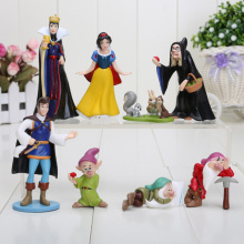 3-8cm PVC Princess Snow white Snow White and the Seven Dwarfs Queen Prince Figure Play(China)