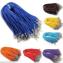 40%OFF Wholesale Jewelry Bulk 10pcs Fashion Braided Leather necklace cord 11 Color(China)