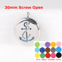 Buy Free Chain Pads Perfume Pendant Necklace Boat Classic Essential Oil Diffuser Locket Boat Anchor Stainless Steel Screw 30MM for $4.99 in AliExpress store