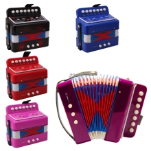 2017 Small Accordion Kids Children Student Music Instrument Toy Gift 7 Keys 2 Bass APR22_30(China)
