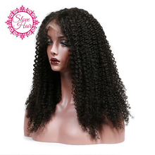 Slove 150% Glueless Lace Front Human Hair Wig for Black Women Pre Pluck Afro Kinky Curly Wig with Baby Hair Brazilian Remy Hair(China)