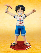 10cm Anime One Piece POP Monkey D Luffy Childhood ver. PVC Action Figure Collectible Model Toy