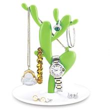 Creative Cactus Shape Jewelry Display Stand Earring Necklace Bracelet Storage Rack Jewelry Rack House Ornaments racks Crafts 3