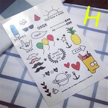 Hot Sale Harajuku Foamposite Waterproof Temporary Tattoo Stickers Cute Pattern Cartoon Designs Styling Tool Balloon Models(China)