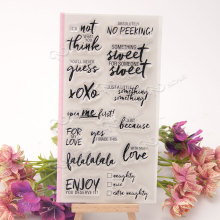 Common word 4 sweet Transparent Clear Silicone Stamp/Seal for DIY scrapbooking/photo album Decorative clear stamp(China)