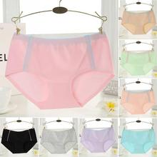 2017 New cute stretch pants modal briefs women candy color underwear lady little panties lingerie intimate undergarment
